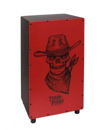 Torro Perro Art Series EU handmade Cajon COWBOY Black-Red-Black TPC-CB-BRB