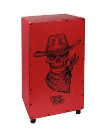 Torro Perro Art Series EU Handmade Cajon COWBOY Red-Red-Black TPC-CB-RRB