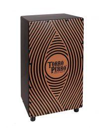 Torro Perro Art Series EU Handmade Cajon GONG Black-Black-Orange TPC-GO-BBO