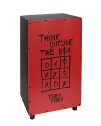 Torro Perro Art Series EU Handmade Cajon THINK Black-Red-Black TPC-TH-BRB