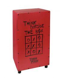 Torro Perro Art Series EU Handmade Cajon THINK Red-Red-Black TPC-TH-RRB