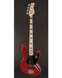 Sire Marcus Miller V7 Vintage 2nd Gen Series Alder 4-String Bass Guitar Bright Metallic Red V7V+ A4/BMR
