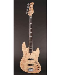 Sire Marcus Miller V9 2nd Gen Series Swamp Ash with Maple Top + Quilted Veneer 4-String Bass Guitar Natural V9+ S4/NT
