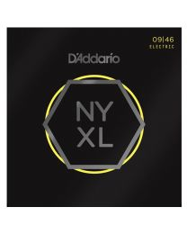 D'Addario Nickel Wound Electric Guitar Strings, Super Light Top/Regular Bottom, 09-46 NYXL0946