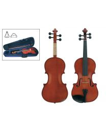 Leonardo Student Series Violin outfit with Ebony fittings, Case & Bow LV-1600