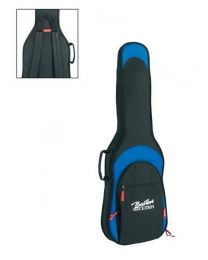 Boston Deluxe Padded Bag for Electric Guitar - 25mm Padding - Black & Blue