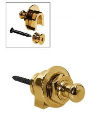 Boston Guitar Strap Locks: Gold Strap Lock system for Guitar and Bass