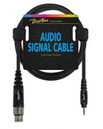 Boston audio signal cable, XLR female to 3.5mm jack stereo, 1.50mtr