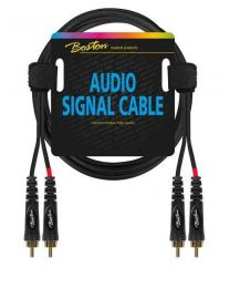 Boston audio signal cable, 2x RCA to 2x RCA, 1.50mtr