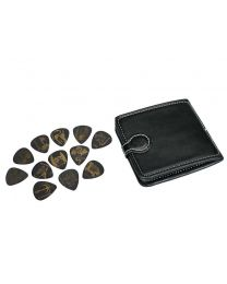 Boston Pick Pouch - 12 Delrin Picks with Gold Print