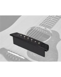 Boston Easy Install Soundhole Pickup with Adjustable Poles and Endpin Jack SHP-130-EPJ