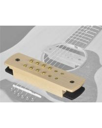 Boston Easy Install Soundhole Pickup - Humbucker with Solid Maple Cover SHP-210