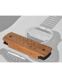Boston Easy Install Soundhole Pickup- Humbucker with Bubinga Cover Endpin Jack SHP-250-EPJ