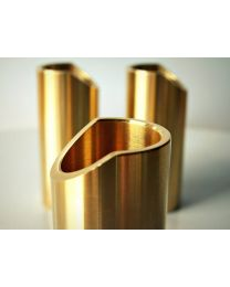 The Rock Slide Polished Brass guitar slide available in Small, Medium, Large & Extra Large