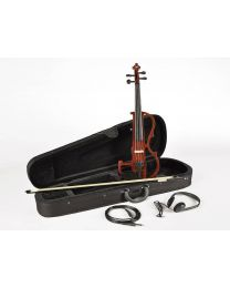 Leonardo Electric Violin with case, headphones and bow
