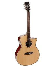 Sire Acoustics R3 GZ Series Acoustic Grand Auditorium Guitar with Zebra electronics and cutaway - Gloss Natural