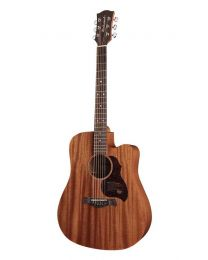 Richwood Master Series D50CE Handmade Electro Acoustic Dreadnought Guitar, Solid Mahogany, Satin