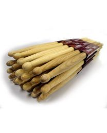 Hayman 7A Wood Tipped Hickory Drumsticks - 12 pairs
