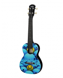 Korala Poly Ukulele - Concert Size Happy Smiley Face Design