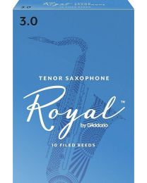 Rico Royal Tenor Sax Reeds, Strength 3.0, 10-pack by D'Addario