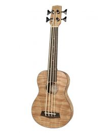 Korala Ukulele Bass -  Flamed Okume Wood UKBB-310-E with EQ and Tuner