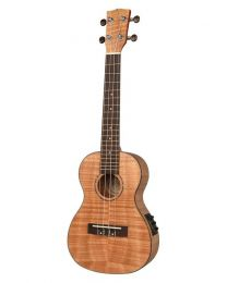 Korala Concert Ukulele - Left Handed - All Flamed Okume Top EQ UKC-310-LE