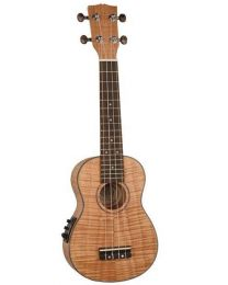 Korala Perfomer Series Soprano Ukulele with all Flamed Okoume Top, with Pickup