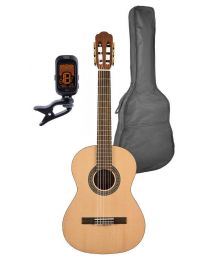 Salvador Classical Guitar Pack 3/4 Scale with Bag and Tuner