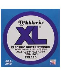 D'addario Strings EXL115 nickel roundwound - 011 - 3 Sets