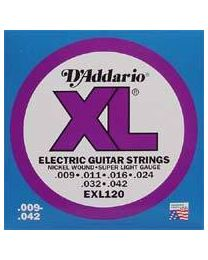 D'addario strings EXL-120 nickel roundwound - 009 - 3 Sets