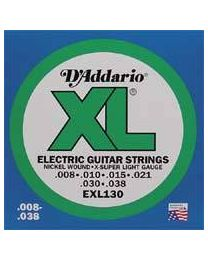 D'addario strings EXL-130 nickel roundwound - 008 - 3 Sets