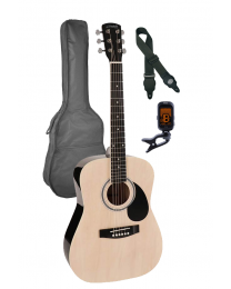 Nashville 3/4 Scale Steel String Acoustic Guitar Pack - Natural with Bag GSD-6034-NT Natural