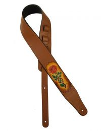 Gaucho Stellar Series PU Leather Guitar Strap GST-230-BR Brown