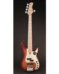 Sire Marcus Miller P7 2nd Gen Series Swamp Ash 5-String Bass Guitar P7+ S5/TS Tobacco Sunburst