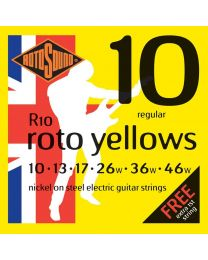 3 Sets of Rotosound R10 Roto Yellows Electric Guitar Strings