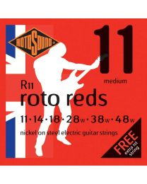 3 Sets of Rotosound R11 Roto Reds Electric Guitar Strings