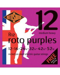 3 Sets of Rotosound R12 Roto Purple MedHeavy Electric Strings
