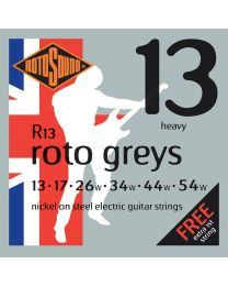 3 Sets of Rotosound R13 Roto Grey Heavy Electric Strings