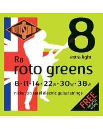 3 Sets of Rotosound R8 Roto Greens Electric Guitar Strings