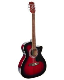 Richwood Artist Series Electro Acoustic Guitar with Active EQ RA-12-CERS Red Sunburst