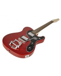 "Richwood Master Series Electric Guitar ""Buckaroo Deluxe Tremola"" Metallic Red REG-375-RRM"
