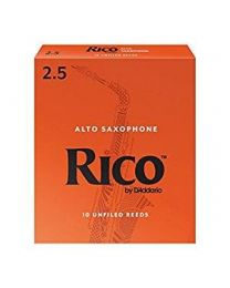 Rico Alto Sax Reeds by D'Addario, Strength 2.5, 10-pack
