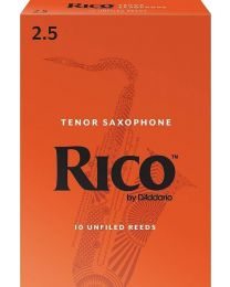Rico Tenor Sax Reeds by D'Addario, Strength 2.5, 10-pack