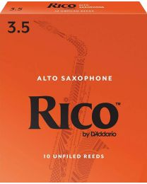D'Addario Woodwinds Alto Sax Reeds, Strength 3.5, 10-Pack RJA1035