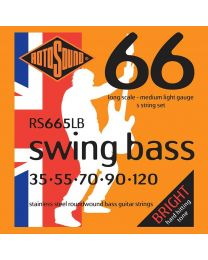 Rotosound 'Swing Bass 66' RS665LB Stainless Steel 5 String 35-120