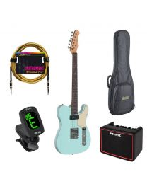 Stagg Starter Bundle - Tele Blue