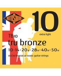 Rotosound Tru Bronze String Set Acoustic 80/20 Bronze 10-50 TB-10