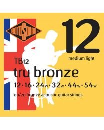 Rotosound Tru Bronze String Set Acoustic 80/20 Bronze 12-54 TB12