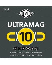 Rotosound Ultramag Electric Guitar String Set Type 52 Alloy Wound 10-46 UM10
