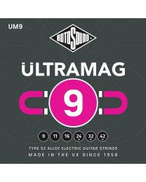 Rotosound Ultramag Electric Guitar String Set Type 52 Alloy Wound 9-42 UM9